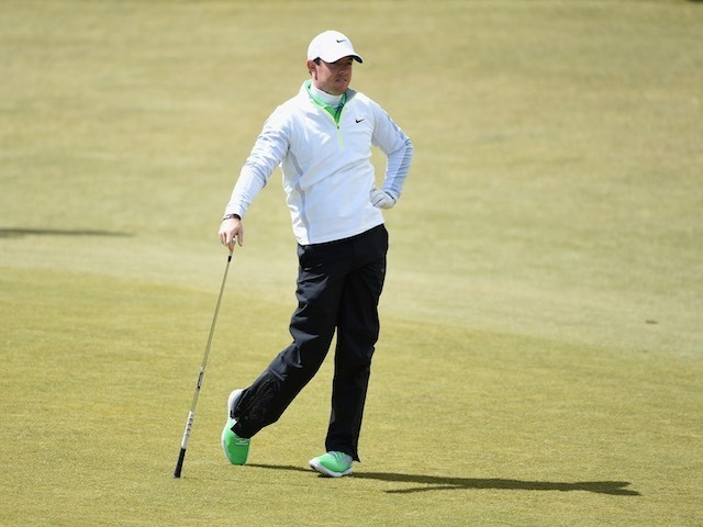 Rory McIlroy strikes a pose during day two of the Irish Open on May 29, 2015