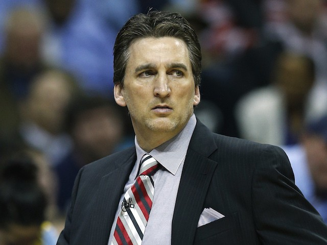 Head coach Vinny Del Negro of the Los Angeles Clippers looks on against the Memphis Grizzlies during Game Six of the Western Conference Quarterfinals of the 2013 NBA Playoffs at FedExForum on May 3, 2013