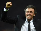 Barcelona's coach Luis Enrique celebrates after the UEFA Champions League Final football match between Juventus and FC Barcelona at the Olympic Stadium in Berlin on June 6, 2015