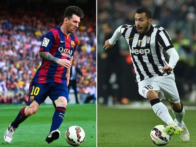 A composite image of Barcelona's Lionel Messi and Carlos Tevez of Juventus ahead of the 2015 Champions League final