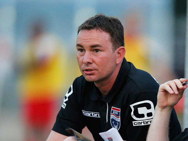 Ross County manager, Derek Adams looks on during the pre season friendly match between FC Twente Youth and Ross County held at the Hengelo Trainingscentrum on August 1, 2014