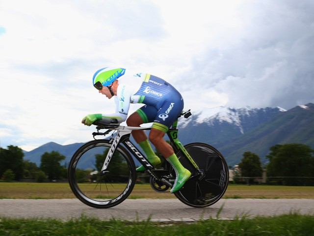 Nino Schurter of Switzerland and Orica GreenEdge during the 5.57km Prologue stage of the Tour de Romandie on April 29, 2014