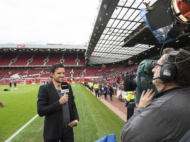 Owen Hargreaves working for BT Sport at Old Trafford