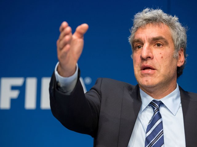 FIFA Director of Communications Walter de Gregorio attends a press conference at the FIFA headquarters on May 27, 2015