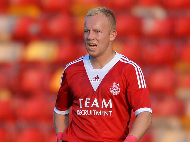 Nicky Low of Aberdeen during the Pre Season Friendly match between Aberdeen and FC Twente at Pittodrie Stadium on July 26, 2013