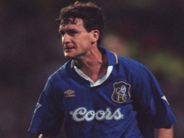 Chelsea's Mark Hughes, in action on November 25, 1995