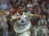 Hernan Crespo of Parma celebrates a goal during the Serie A match against Vicenza at the Stadio Tardini in Parma, Italy