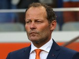 Holland manager Louis van Gaal with assitant manager Danny Blind (L) during the International Friendly match between The Netherlands and Ecuador at The Amsterdam Arena on May 17, 2014