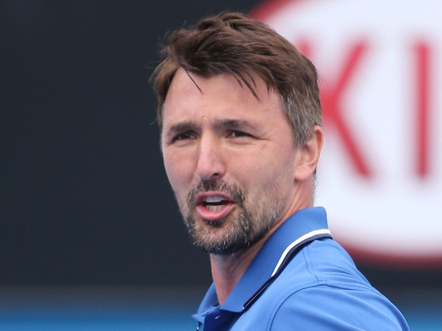 Goran Ivanisevic Of Croatia In Action In Their Legends