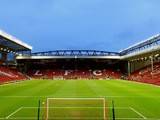 A general view of the stadium prior to kickoff during the UEFA Europa League Round of 32 match between Liverpool FC and Besiktas JK at Anf