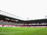 A general view inside the ground prior to the Barclays Premier League match between West Ham United and Manchester City at Boleyn Ground on October 25, 2014