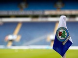 A general view of a corner flag before the Pre Season Friendly match between Blackburn Rovers and Everton FC at Ewood Park on July 27, 2013