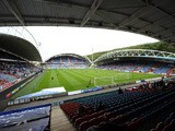 A general view before kick off at The King Power Stadium at the Galpharm Stadium on August 23, 2014