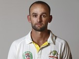 Nathan Lyon poses during an Australia portrait session in May 2015