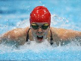 Rhiannon Henry of Great Britain competes in the Women's 200m Individual Medley - SM13 final on day 9 of the London 2012 Paralympic Games at Aquatics Centre on September 7, 2012