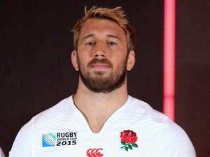England captain Chris Robshaw poses at the kit launch for the Rugby World Cup on July 6, 2015