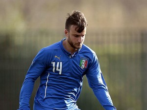 Filippo Costa of Italy U20 in action during the international friendly match between Italy U20 and Qatar U20 on February 25, 2015