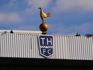 A general view of the Tottenham Hotspur crest ahead of the Barclays Premier League match between Tottenham Hotspur and West Ham United at White Hart Lane on October 6, 2013