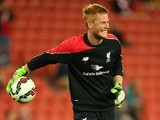 Adam Bogdan of Liverpool FC warms up ahead of the international friendly match between Brisbane Roar and Liverpool FC at Suncorp Stadium on July 17, 2015