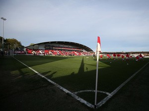 A general view ahead of the Sky Bet League Two play off Semi Final second leg match between Fleetwood Town and York City at Highbury Stadium on May 16, 2014