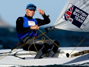 Nick Thompson of Great Britain sails on the Copacobana course during the Mens Laser Class as part of the Aquece Rio International Sailing Regatta - Rio 2016 Sailing Test Even on August 6, 2014