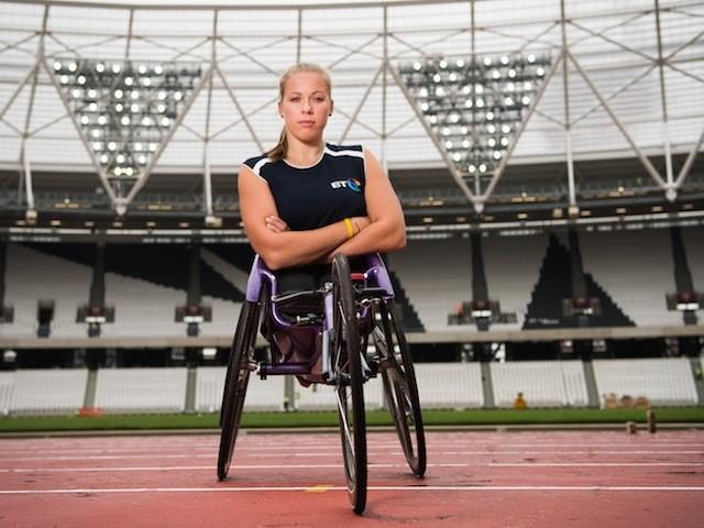 Hannah Cockroft at the Olympic stadium on July 15, 2015