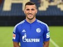 Schalke defender Sead Kolasinac poses for a team photo on July 17, 2015