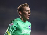 Christian Walton of Brighton during the Capital One Cup Fourth Round match Tottenham Hotspur and Brighton & Hove Albion at White Hart Lane on October 29, 2014