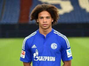 Schalke's midfielder Leroy Sane poses during the team presentation of Schalke 04 on July 17, 2015