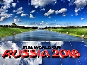 A general view of Konstantin Palace gardens ahead of the preliminary draw of the 2018 FIFA World Cup in Russia on July 24, 2015