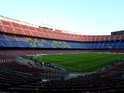 A general view of the stadium prior to kickoff during the UEFA Champions League Round of 16 match between FC Barcelona and Manchester City at Camp Nou on March 12, 2014