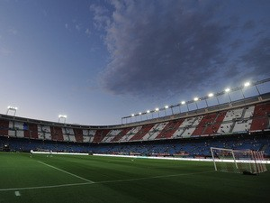 General view of the Vicente Calderon Stadium prior to the Supercopa, second leg match between Club Atletico de Madrid and Real Madrid on August 22, 2014