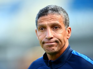 Brighton manager Chris Hughton looks on ahead of the Pre Season Friendly between Brighton & Hove Albion and Seville at Amex Stadium on August 2, 2015