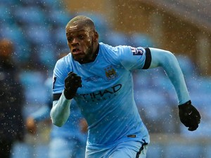 Olivier Ntcham of Manchester City in action during the Premier League International Cup Final match between Manchester City and FC Porto at the Manchester City Academy Stadium on May 8, 2015