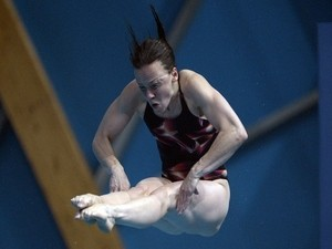 British diver Rebecca Gallantree competes in the Women's 3m Springboard final diving event at the 2015 FINA World Championships in Kazan on August 1, 2015