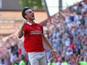 Morgan Fox of Charlton Athletic celebrates scoring a goal during the Sky Bet Championship match between Charlton Athletic v Queens Park Rangers at The Valley on August 8, 2015