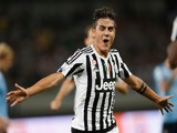 Paulo Dybala of Juventus FC in celebrates a goal during the Italian Super Cup final football match between Juventus and Lazio at Shanghai Stadium on August 8, 2015