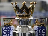 A close-up view of the Premier League trophy on August 5, 2015