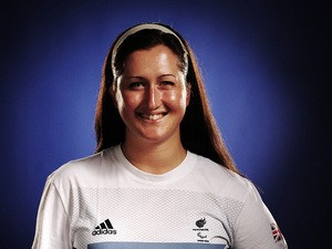 Sailor Hannah Stodel attends the Team GB Paralympic launch at the Park Plaza Hotel on July 13, 2012