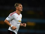 Bastian Schweinsteiger of Manchester United in action during the Barclays Premier League match between Aston Villa and Manchester United on August 14, 2015