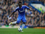 Michael Essien of Chelsea in action during the Barclays Premier League match between Chelsea and Manchester City at Stamford Bridge on March 20, 2011 in London, England.