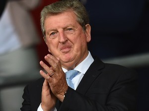 England manager Roy Hodgson offers a patter of applause during the game between Southampton and Everton on August 15, 2015