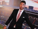Sergio Ramos poses for photographers as he announces a new deal at Real Madrid on August 17, 2015