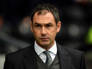 Paul Clement manager of Derby County during the Sky Bet Championship match between Derby County and Middlesbrough at Pride Park Stadium on August 18, 2015
