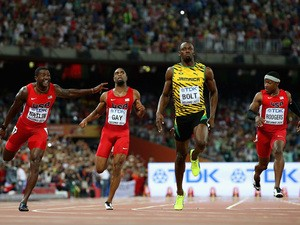 Usain Bolt of Jamaica wins gold in the Men's 100 metres final during day two of the 15th IAAF World Athletics Championships Beijing 2015 at Beijing National Stadium on August 23, 2015