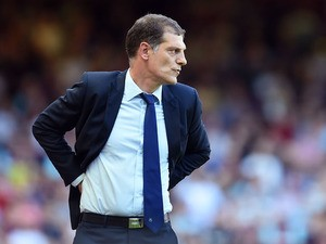Slaven Bilic manager of West Ham looks on during the Barclays Premier League match between West Ham United and Bournemouth at the Boleyn Ground on August 22, 2015