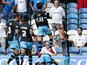 Sheffield Wednesday FC celebrate after scoring the opening goal during the Sky Bet Championship match between Leeds United and Sheffield Wednesday at Elland Road on August 22, 2015