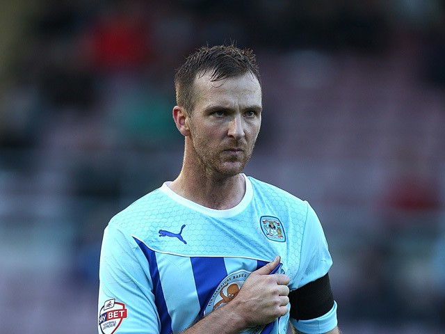 Andrew Webster of Coventry City in action during the Sky Bet League One match between Coventry City and Sheffield United at Sixfields Stadium on October 13, 2013