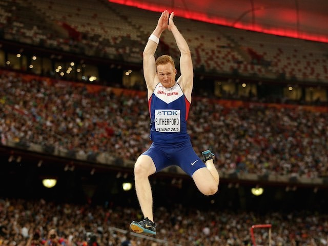 GB's Greg Rutherford in action during the long jump final at the World Championships on August 25, 2015