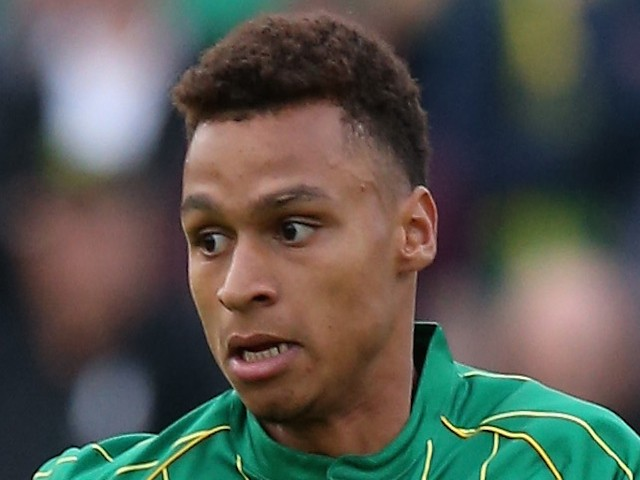 Josh Murphy of Norwich City runs with the ball during the pre season friendly match between Hitchin Town and Norwich City at Top Field Stadium on July 14, 2015